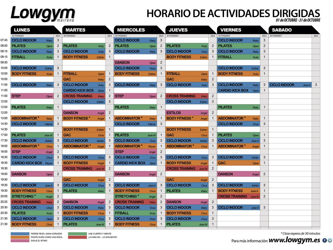 Lowgym gimnasio en sevilla for Horario gimnasio